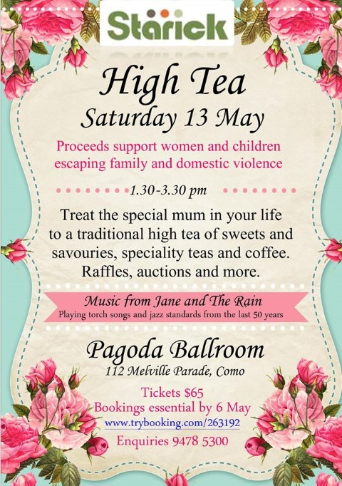 South Perth High Tea 13 May Small