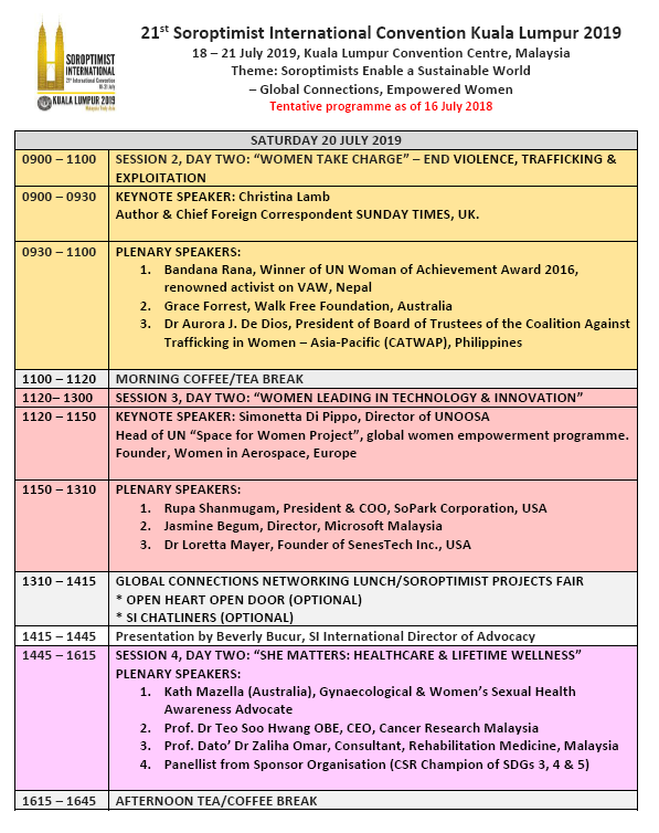 SI Convention KL 2019 Updated Programme p2