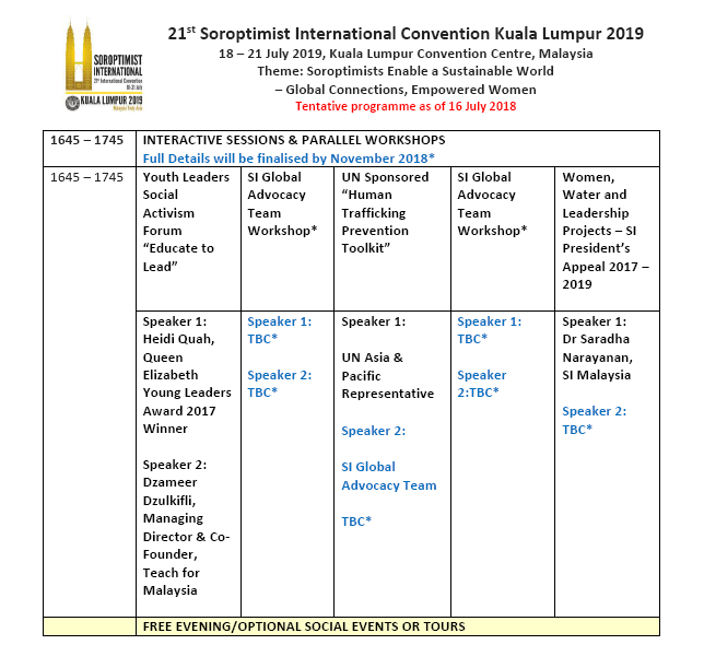 SI Convention KL 2019 Updated Programme p3