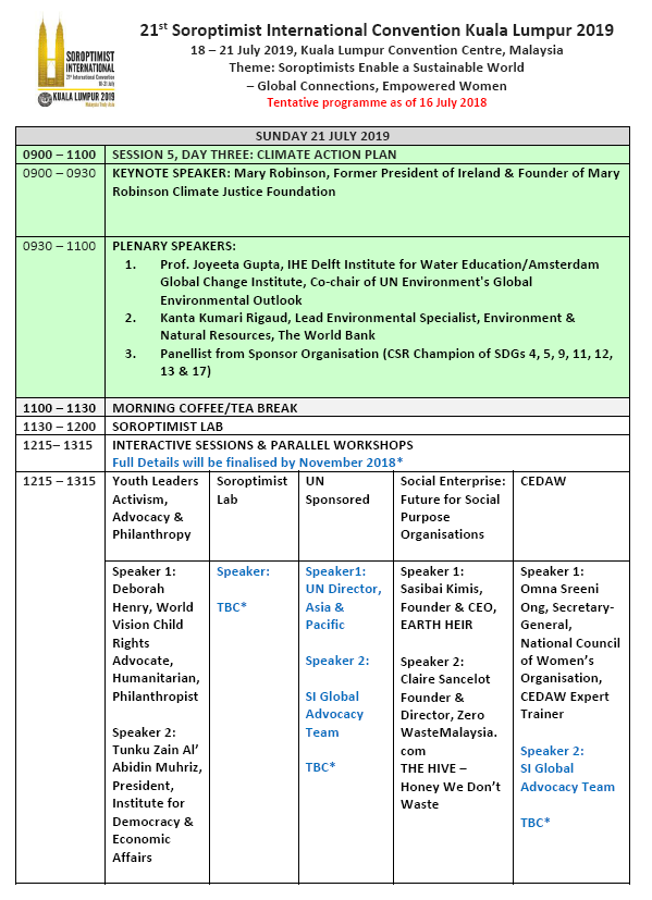 SI Convention KL 2019 Updated Programme p4