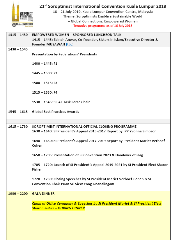SI Convention KL 2019 Updated Programme p5