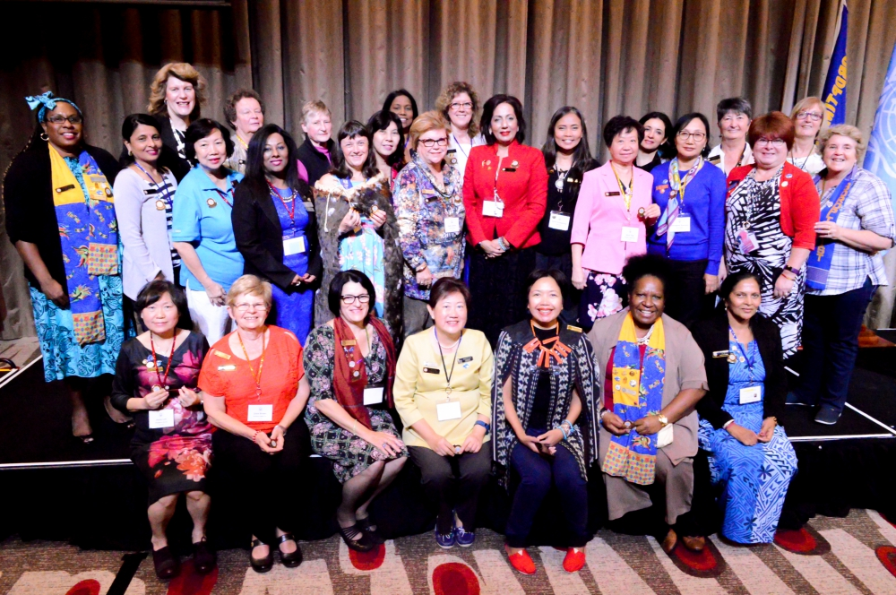 Soroptimists attending SISWP Conference of Clubs 2018