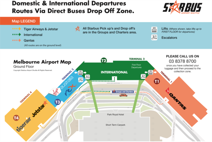 Starbus Airport Shuttle Map