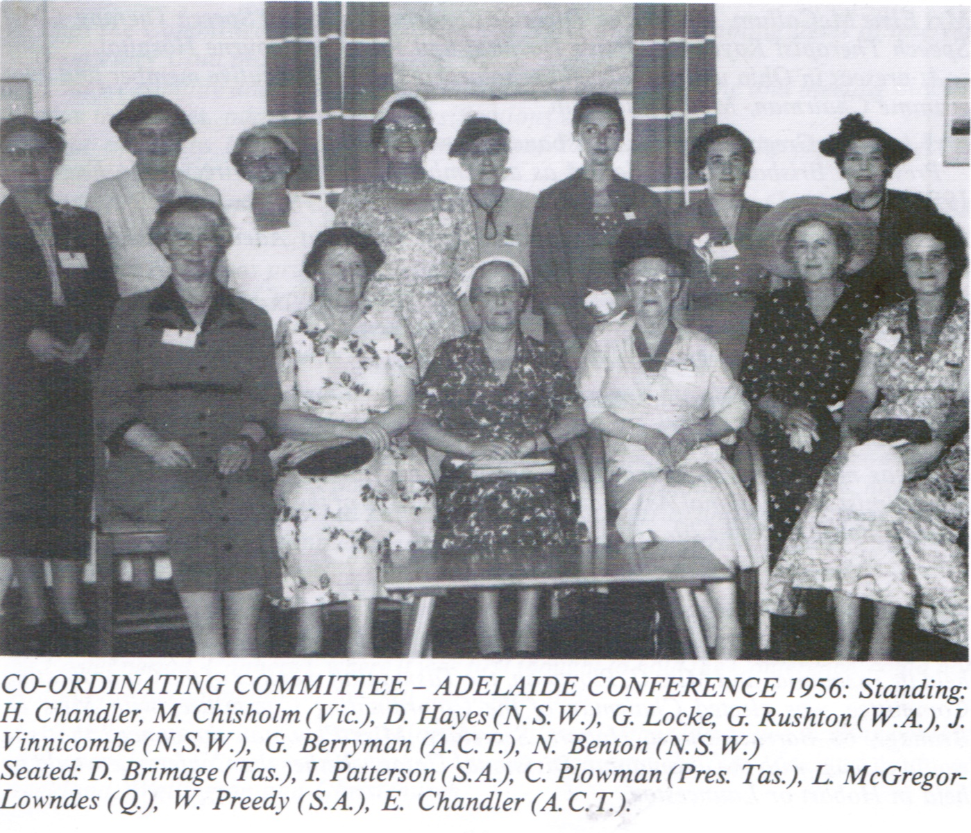 1956 coordinating committee Adelaide Conference