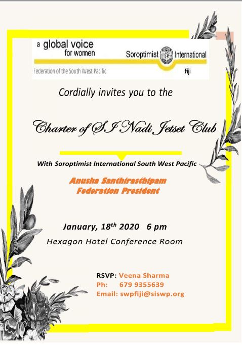 SI Nadi Jetset charter Invitation Card
