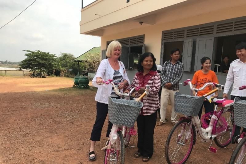 New Bicycles for Cambodia Villaga Malaria Workers
