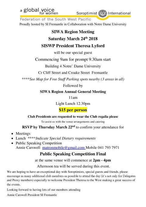 AGM AND REGION Meeting March 2018 Small